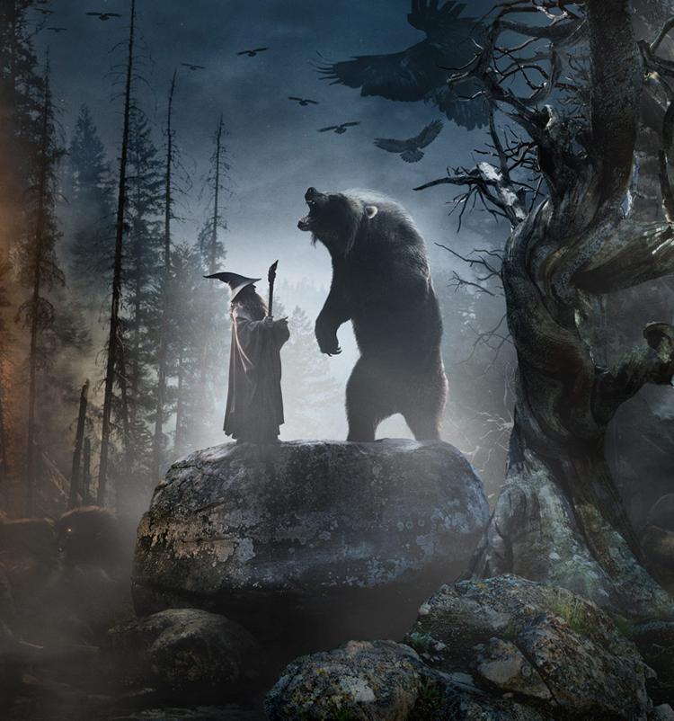 Si no habéis leído la novela, no entenderéis qué hace Gandalf charlando con un oso.