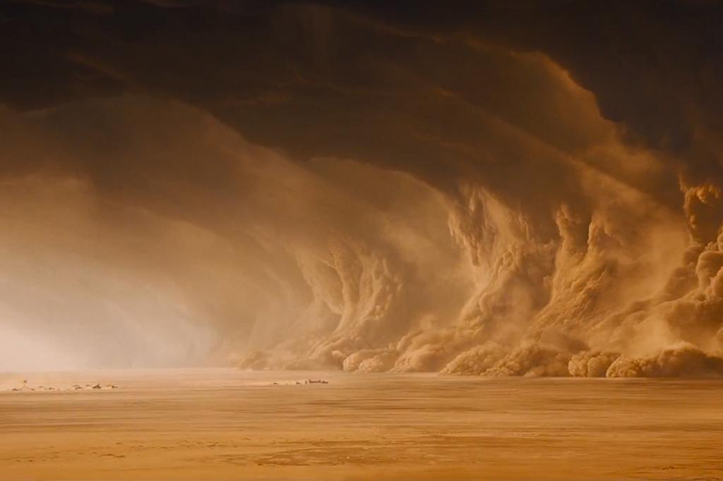La tormenta de arena en Mad Max: Furia en la Carretera