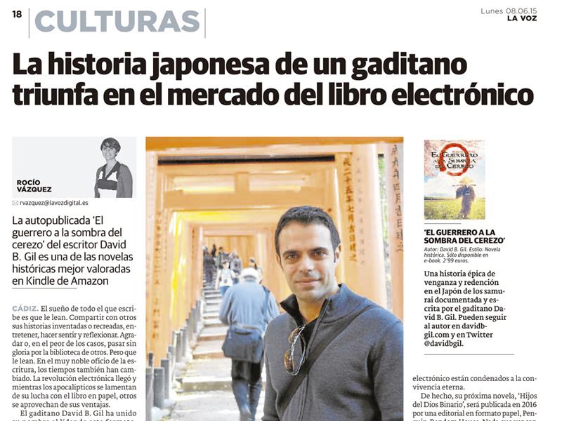 Libro El Guerrero a la Sombra del Cerezo - La Voz de Cádiz