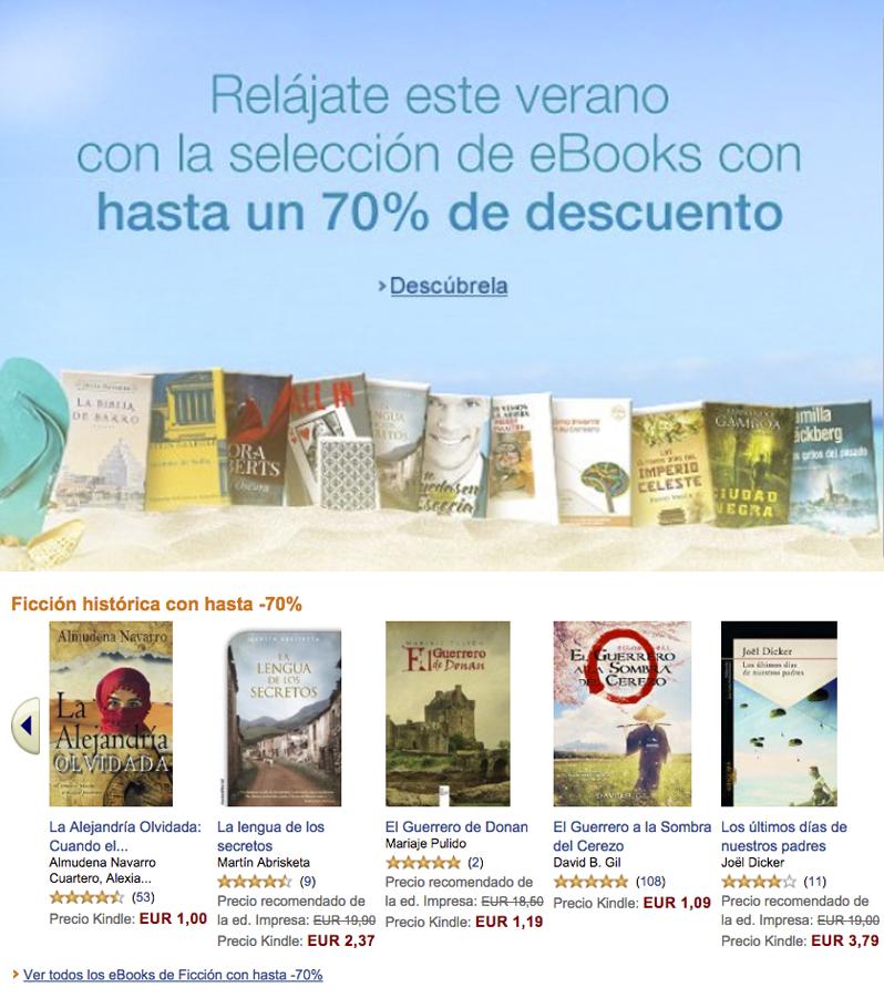 promoción verano Amazon Kindle